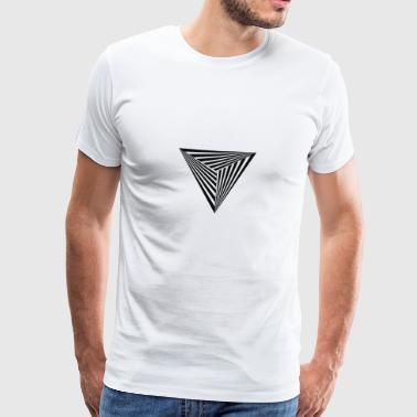 Stylish Modern Triangle Abstract 3D Lines - Men's Premium T-Shirt