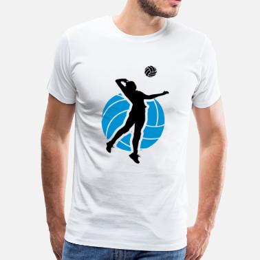 Volleyball Volleyball Design - Camiseta premium hombre