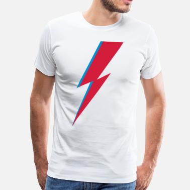 flash, music, rebel, Bowie, hero, space, blackstar - Camiseta premium hombre