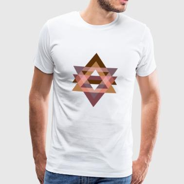 Graphic Art Triangle Graphics Erdstimmung - Mannen Premium T-shirt