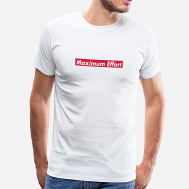 Deadpool Maximum Effort - Mannen Premium T-shirt