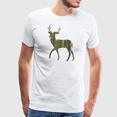 Deer Antler Deer with antlers - Men's Premium T-Shirt