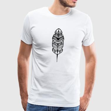 Tribu Feather Shape Maori Tattoo Ancient Tribe - Camiseta premium hombre