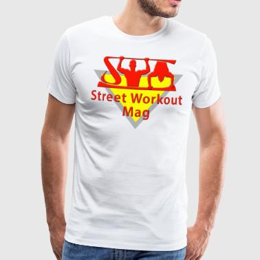 MAG LOGO STREET WORKOUT FOR WHITE BACKGROUND - Men's Premium T-Shirt