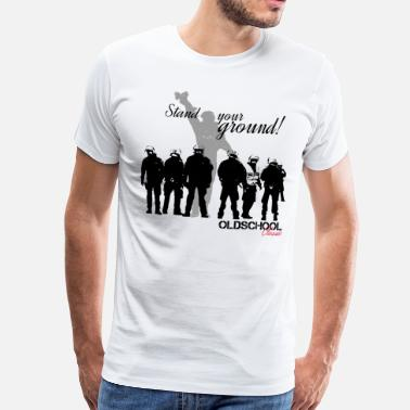 Ultras OLDSCHOOL Classic Stand Your Ground! - Mannen Premium T-shirt