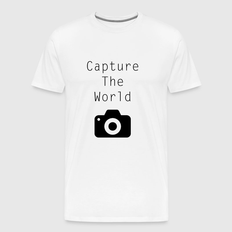 Fotografie - Capture The World - zeg zwart - Mannen Premium T-shirt