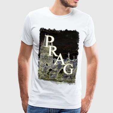 Prague Praha Charles Bridge Czech Republic sight - Men's Premium T-Shirt