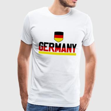 Germania - fan di calcio jersey flag WM - Maglietta Premium da uomo