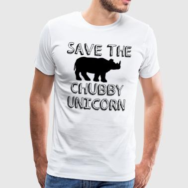 Unicorn save the molly unicorn gift rhino - Mannen Premium T-shirt