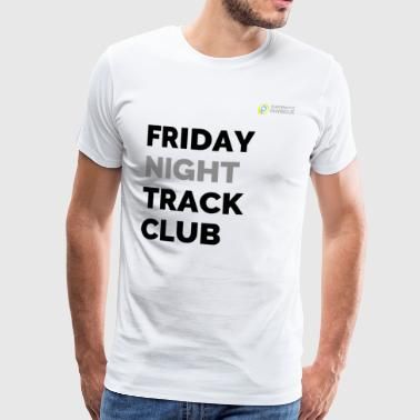 Friday Night Track Club - Grå - Herre premium T-shirt