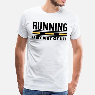 S De Sport Way Of Life Running is my way of life - T-shirt Premium Homme