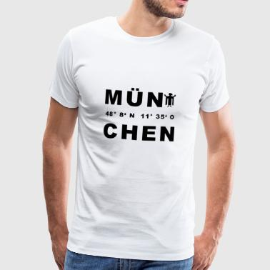 Coordinates Munich - Men's Premium T-Shirt