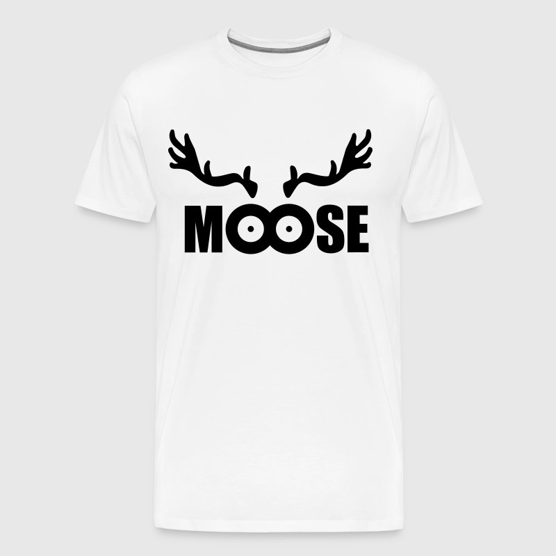 Moose (black) - Men's Premium T-Shirt