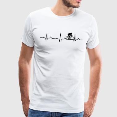 Heartbeat racing cycling - Men's Premium T-Shirt