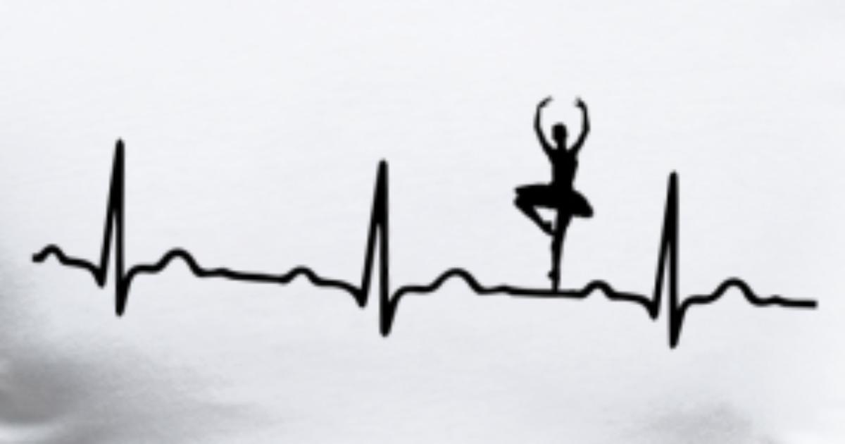 Heartbeat Line Art : Ecg heartbeat ballet black by wolli spreadshirt