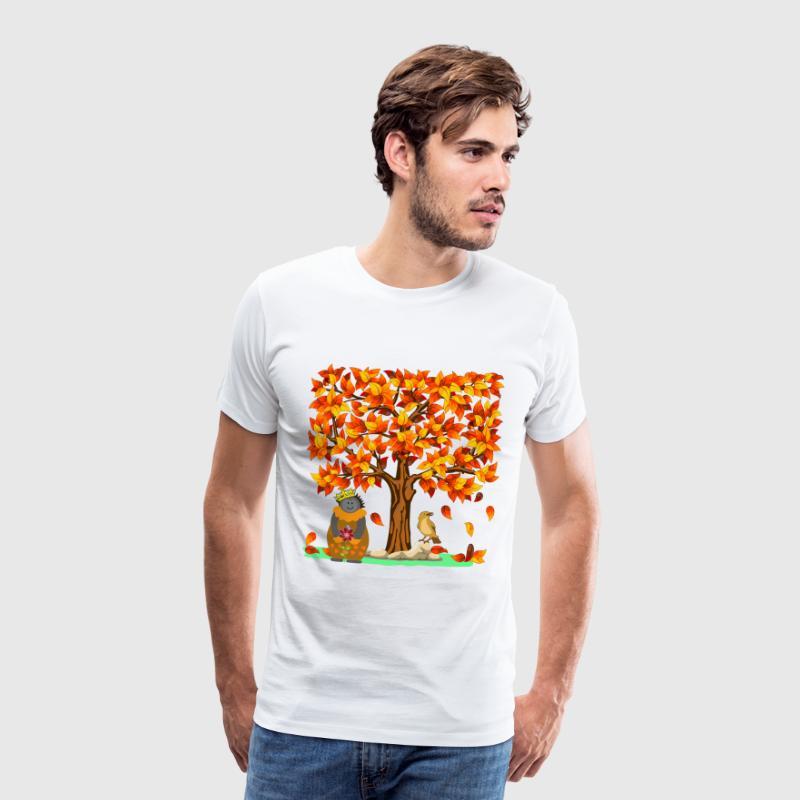 Herbst Igel Indian Summer Herbstlaub Blätter Baum von TinaRina ...