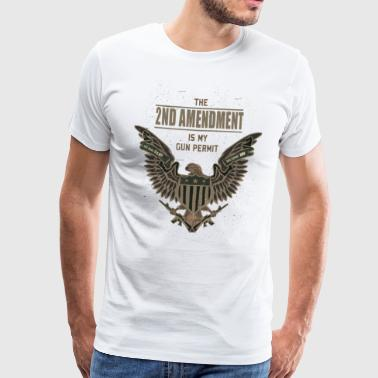 2nd Amendment is my Gun Permit - Männer Premium T-Shirt