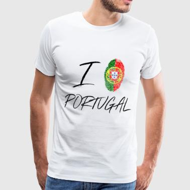 I love Portugal - Men's Premium T-Shirt