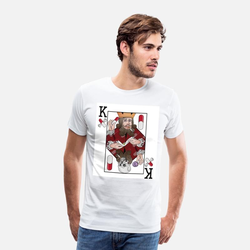 King Queen T-shirts - KING - T-shirt premium Homme blanc