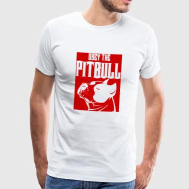 Hond / Pitpull: Obey The Pitbull - Mannen Premium T-shirt