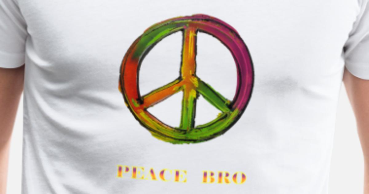 Peace Sign Peace Bro Mannen Premium T Shirt Spreadshirt