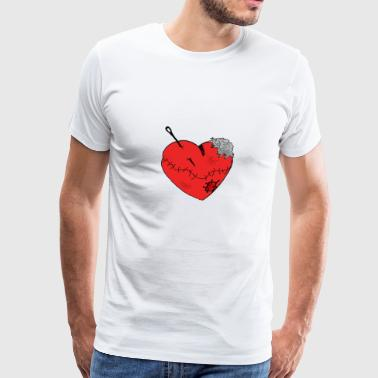 Heartache Heart Love Scars Wounds Injured - Men's Premium T-Shirt