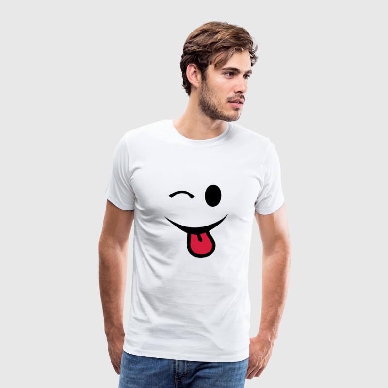 smiley clin oeil yeux  langue1 - T-shirt Premium Homme
