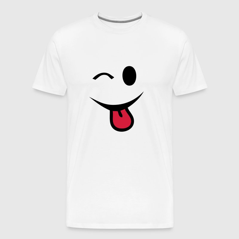 smiley clin oeil yeux  langue1 - Men's Premium T-Shirt