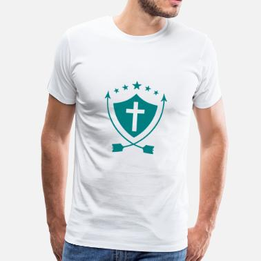 Pope Jokes Priest Priester Prêtre Religion Cross Croix God - Men's Premium T-Shirt