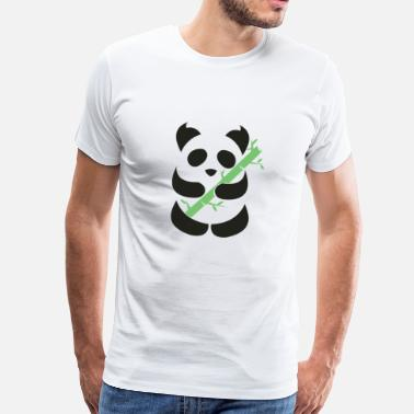 Bamboo Panda with bamboo - Men's Premium T-Shirt