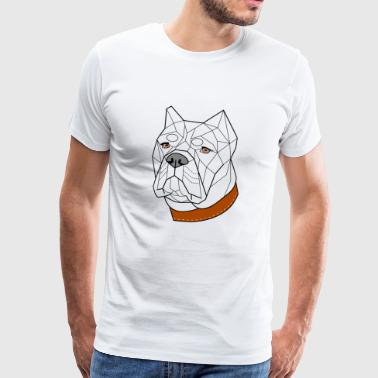 Cane Corso geometric (NB) - Men's Premium T-Shirt