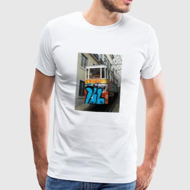 Streetart train - T-shirt Premium Homme