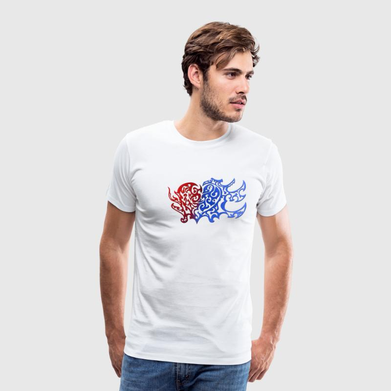 Tribal Heart Good And Evil Side - Männer Premium T-Shirt