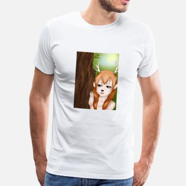 Comic Artist Womens T-shirt: Deer-girl design by Tina Ditte - Men's Premium T-Shirt