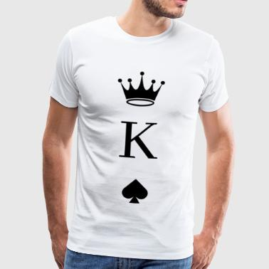 Playing Card Pik King - Men's Premium T-Shirt