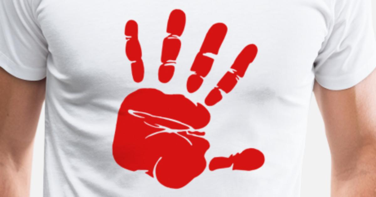 Handabdruck in Rot von FreeDesigns | Spreadshirt