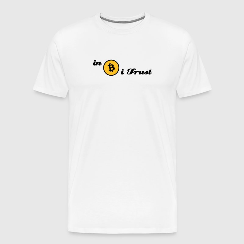 bitcoin, btc, in Bitcoin i trust - Men's Premium T-Shirt