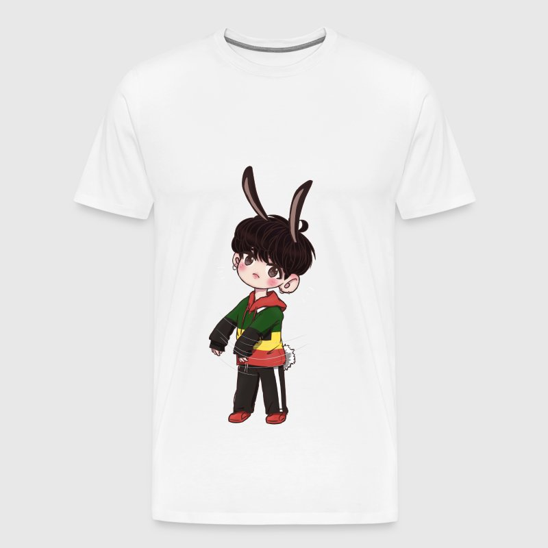 Chibi Jungkook rabbit - Men's Premium T-Shirt