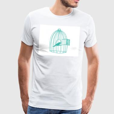 Cage Caged Bird - Men's Premium T-Shirt
