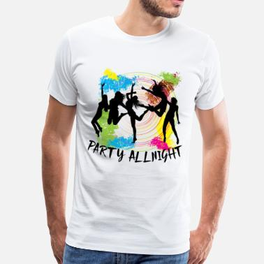 Silhouette Stag Night Party Party Allnight - Men's Premium T-Shirt