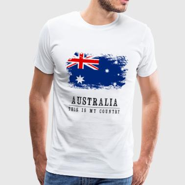 AUSTRALIA FLAG - THIS IS MY COUNTRY - Men's Premium T-Shirt