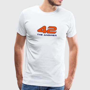 42, het Antwoord Antwoord Galaxy Science Fiction UFO - Mannen Premium T-shirt