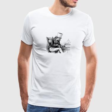 Old man smoking Pipe - Männer Premium T-Shirt