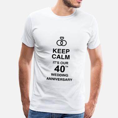 40 Anni Birthday 40 - Birthday Wedding - Marriage - Love - Maglietta Premium da uomo