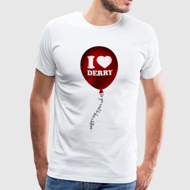 I love Derry - Red Balloon - Men's Premium T-Shirt