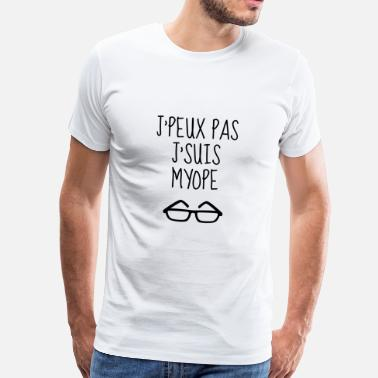 Opticien opticien   optique   yeux   lunettes - T-shirt Premium Homme e0ed919e2750