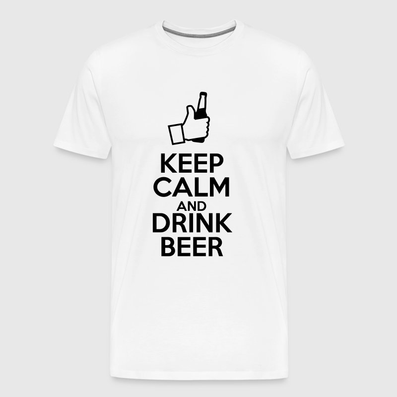Keep calm and drink beer - Mannen Premium T-shirt
