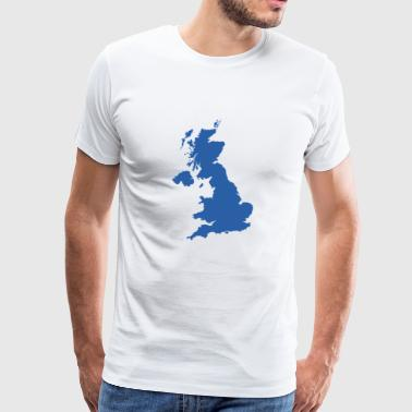 UK kort - Herre premium T-shirt