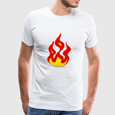 Flames Fire Flames - Men's Premium T-Shirt