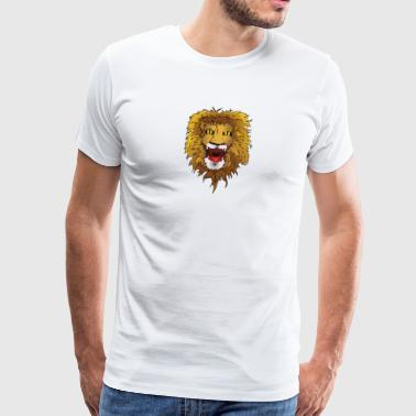 lion loewe cat cat africa africa sphinx93 - Men's Premium T-Shirt